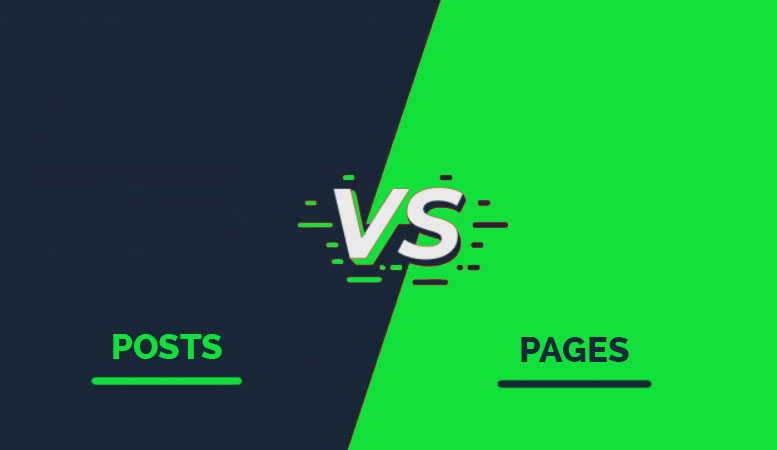 Difference between WordPress pages and posts