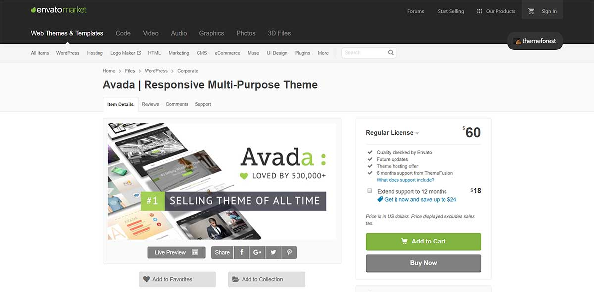 Theme on ThemeForest