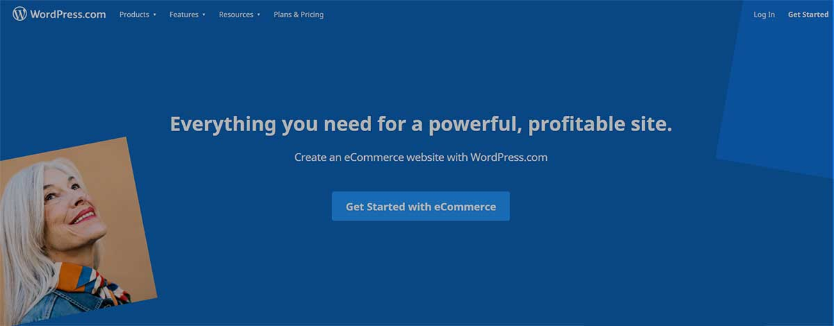 Sale page on WordPress.com for e-commerce plan