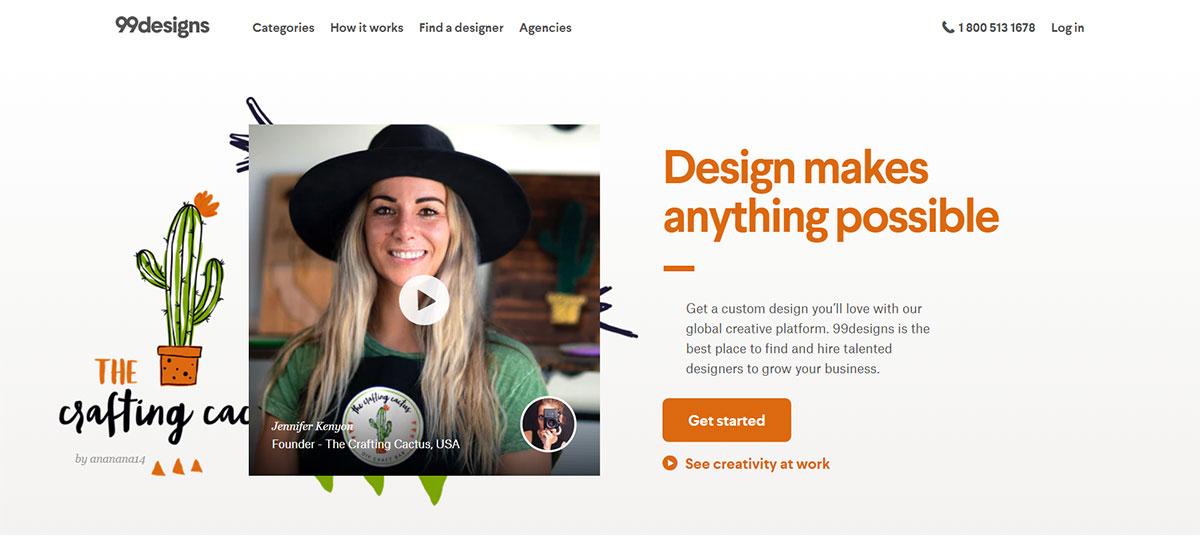 99designs website