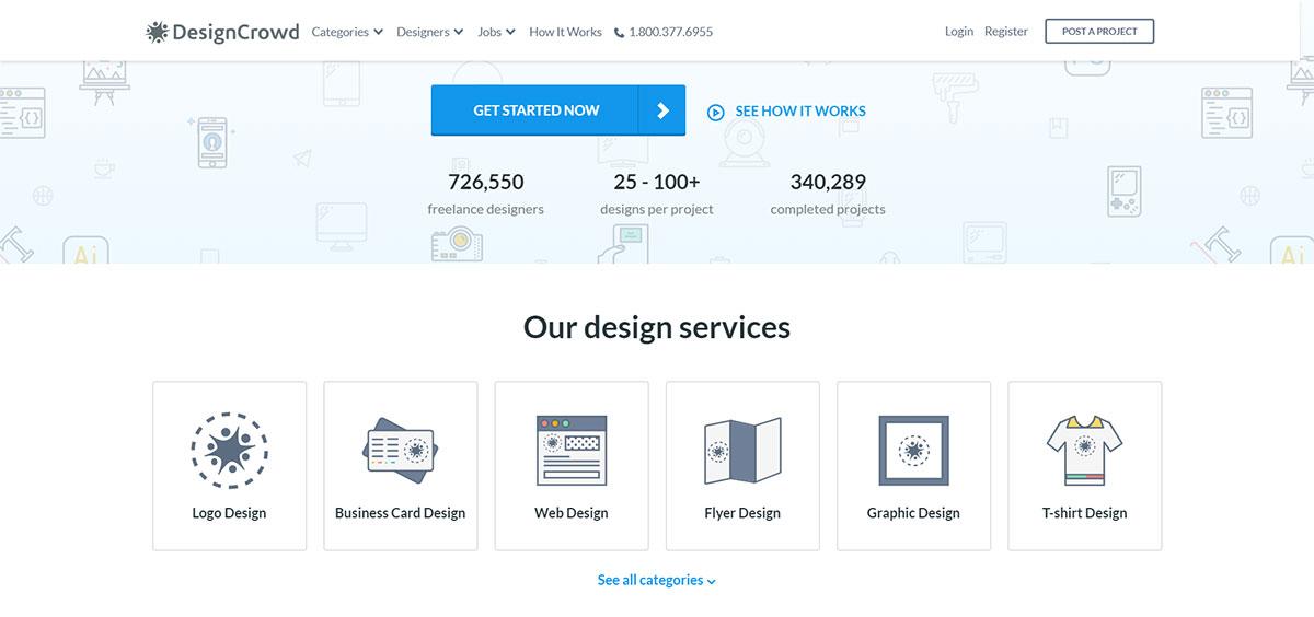 DesignCrowd website