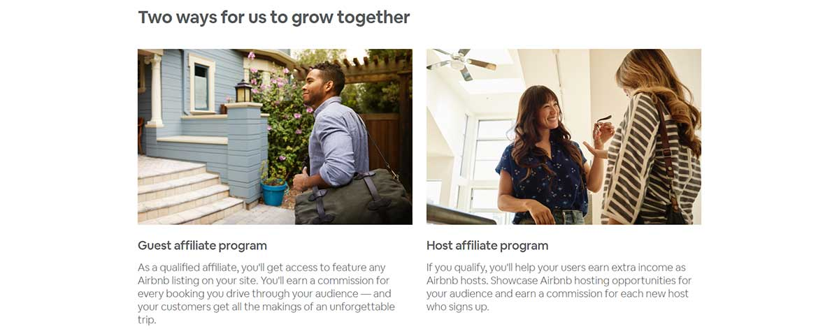 Guest and Host Airbnb affiliate program