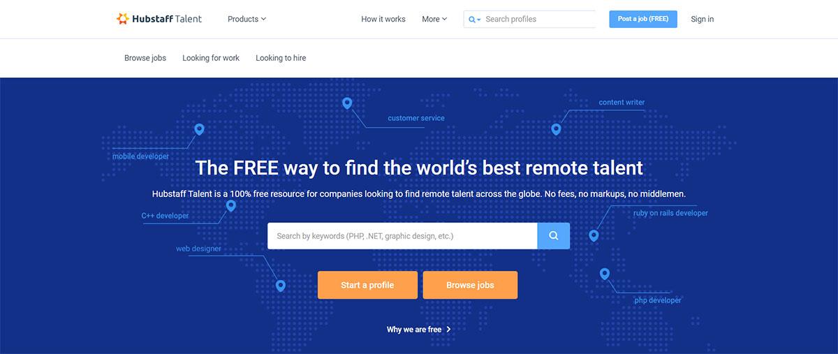 Hubstaff Talent website