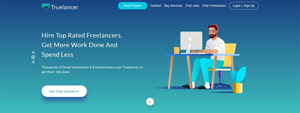 Truelancer website