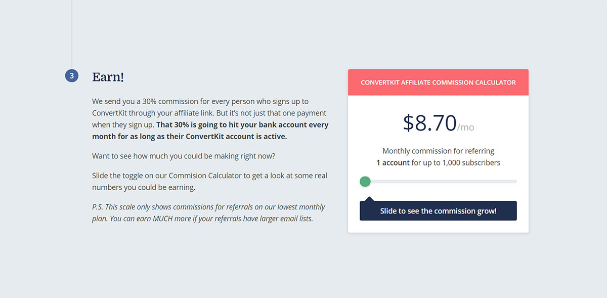 ConvertKit affiliate program commission