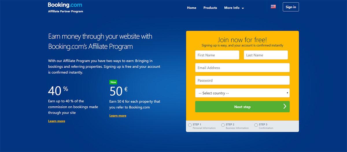 Booking.com Affiliate Program: