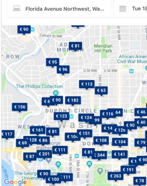 Booking.com map widget